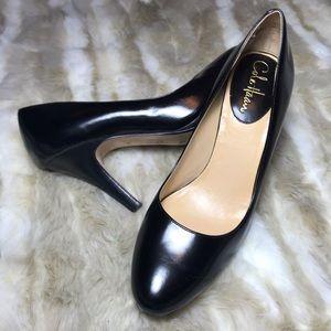 Cole haan Nike air black rounded toe heels 9.5